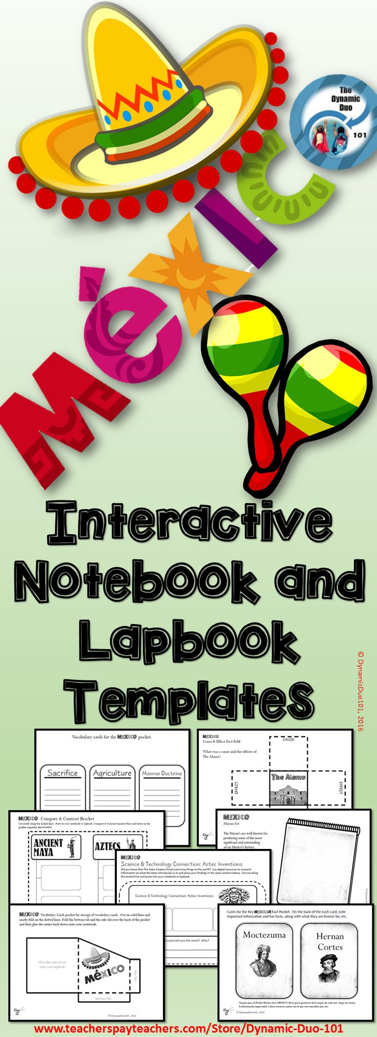 Mexico Interactive Notebook and Lapbook Activities ...