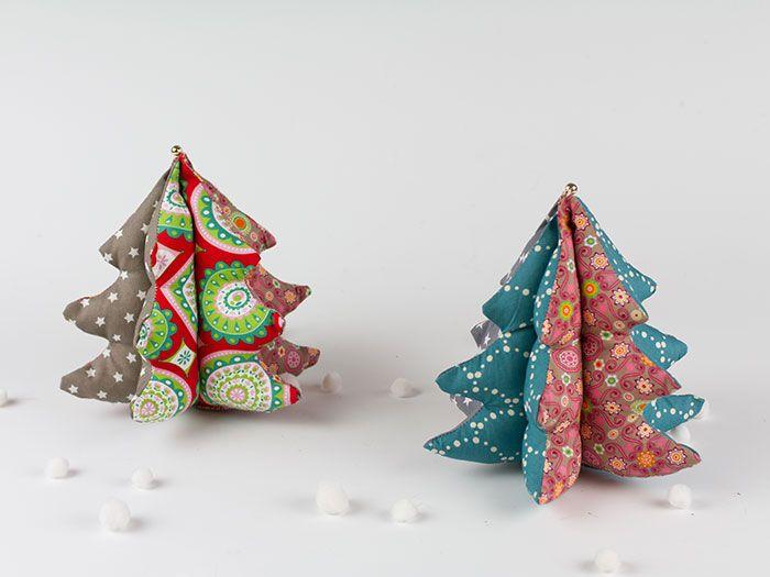 Pour décorer votre intérieur, nous vous proposons ce tutoriel simple qui vous explique, en détails, comment coudre un sapin de Noël décoratif !