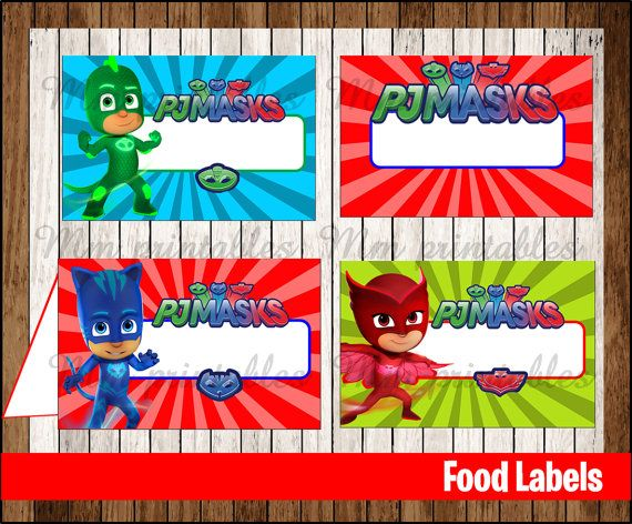 202 Best Images About Pj Masks Party Ideas On Pinterest