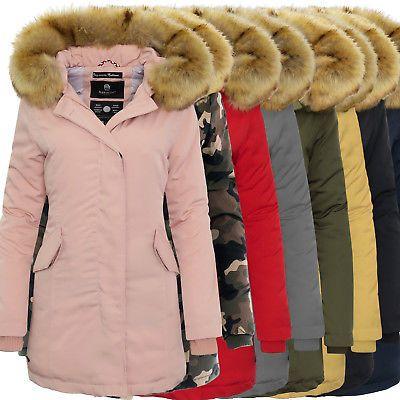 Marikoo Karmaa Damen Parka Damen Jacke Mantel Winterparka Warm Kapuze Fellkragen | eBay