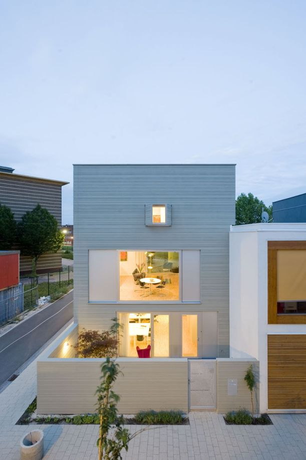 A unique finish for a modern house.  Gallery: The Stripe House by GAAGA Studio Architecture