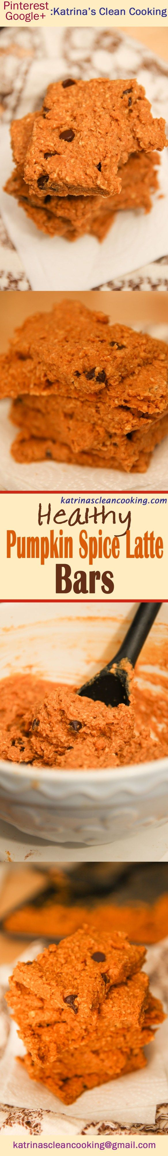 Healthy Pumpkin Spice Latte Energy Bars #healthy #glutenfree #vegan