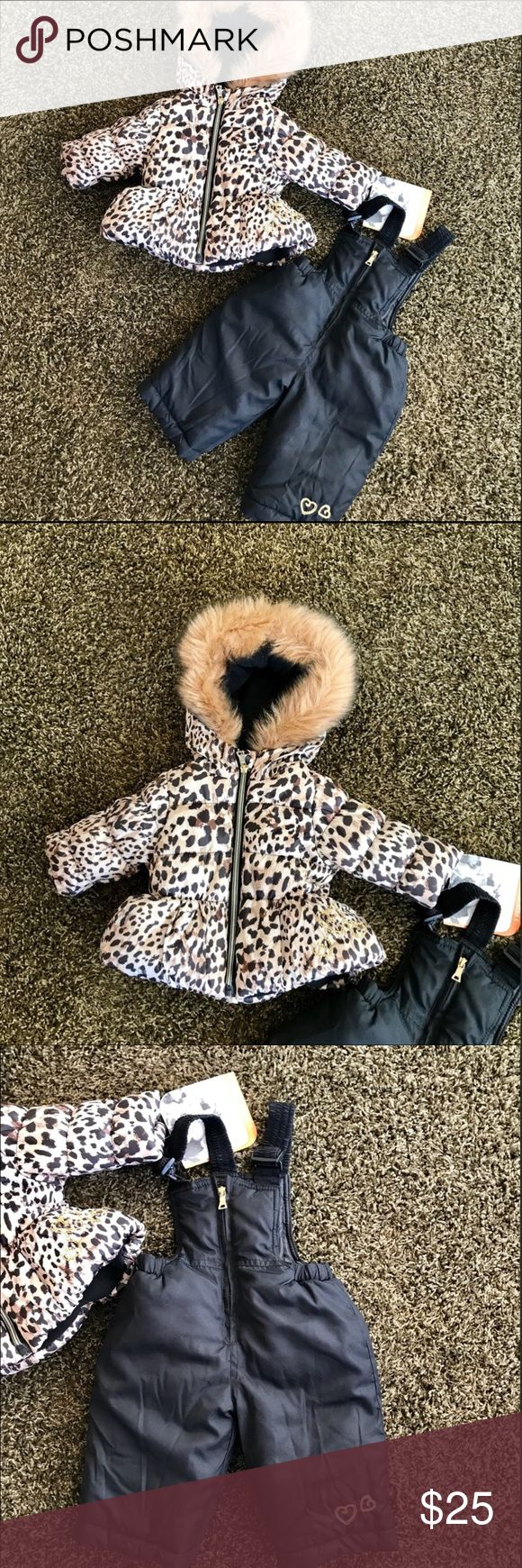Pacific Trail Snow Suit - sz 6m - Brand New ❄️❄️ Pacific Trail Snow Suit - sz 6m - Brand New ❄️❄️ Darling Black and Brown Infant and Toddler Girls Cold Weather coat and Snow Pants Set . Fun animal print. Pacific Trail Matching Sets #infantsnowsuit