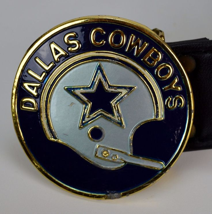 Dallas Cowboys 1971 NFL Playoffs NFC Vintage Football Helmet Belt Buckle & Belt #Vintage