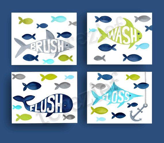 fish bathroom art  fish art prints   target fish by terezief