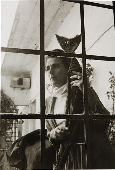 Artwork by Kati Horna, Leonora Carrington with Doll, Made of gelatin silver print