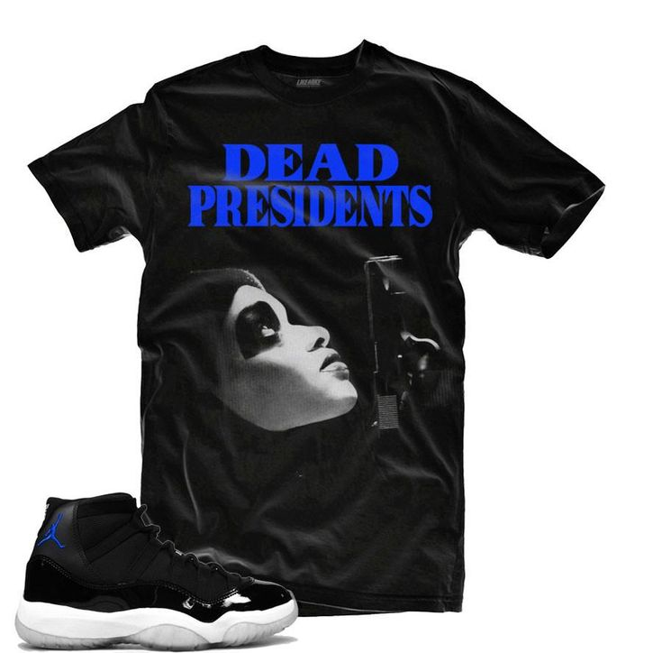 Jordan 11 Space Jam Shirt - Dead Presidents - Black