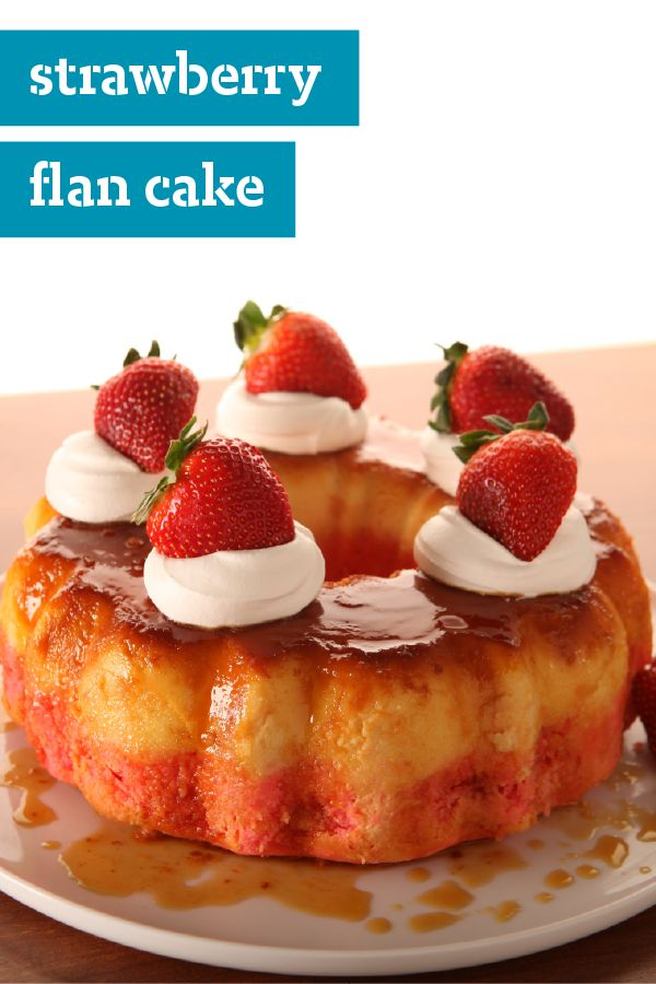 Strawberry Flan Cake – Looking for a new dessert favorite? Our fresh strawberry flan cake takes only 20 minutes of prep work on your end and can feed sixteen people, making it perfect for summer entertaining.