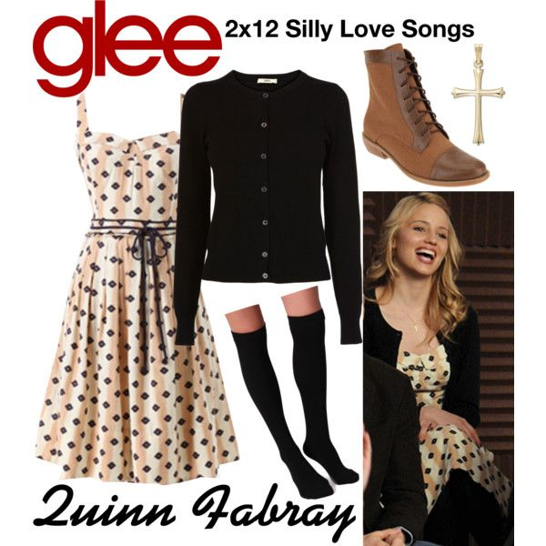 Quinn Fabray (Glee) : 2x12 by aure26 on Polyvore featuring Oasis, Plush and glee