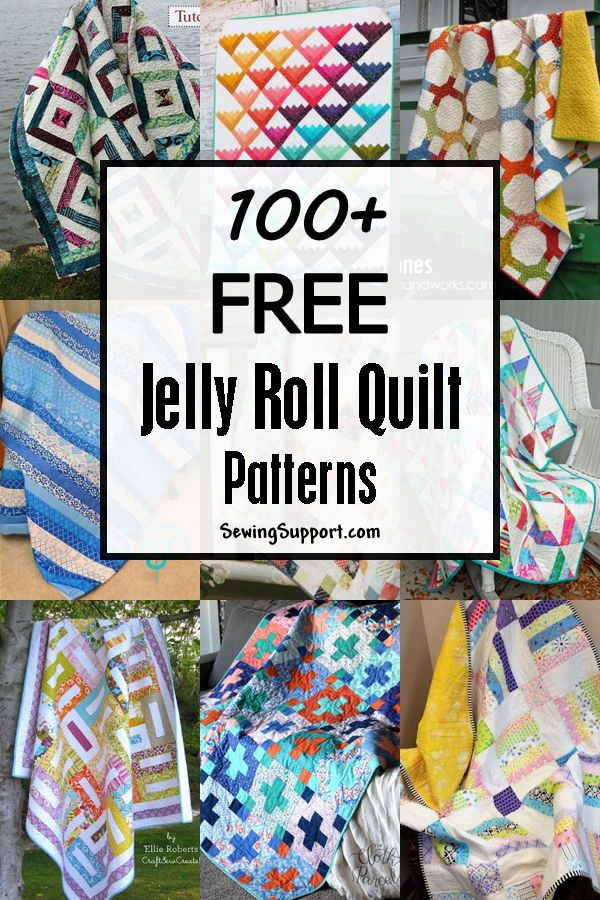 100+ Free Jelly Roll Quilt Patterns & Tutorials | Jelly roll quilt