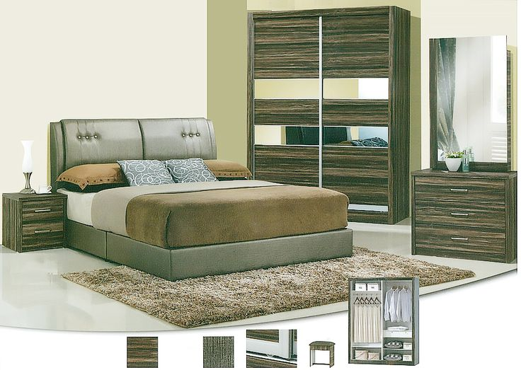 The Magdeleno Bedroom Set Description: Specially designed, sleek and classy, the Magdeleno bedroom set was design to its finest lines. Keeping it simple and neat with clean lines, it consists of a 2 sliding door wardrobe.