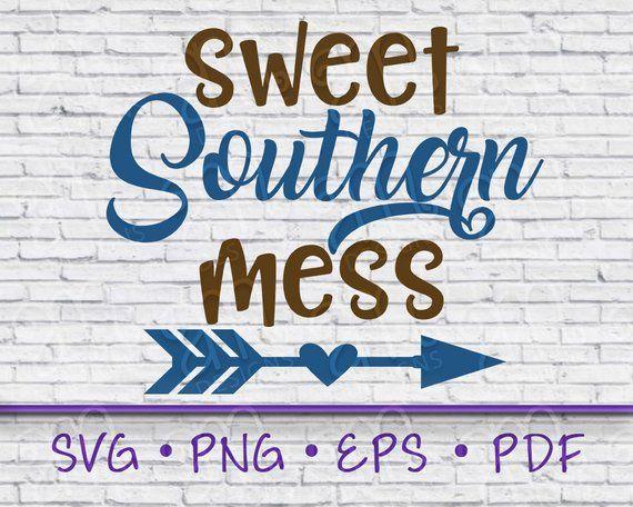 View Sweet Southern Mess Cut File DXF