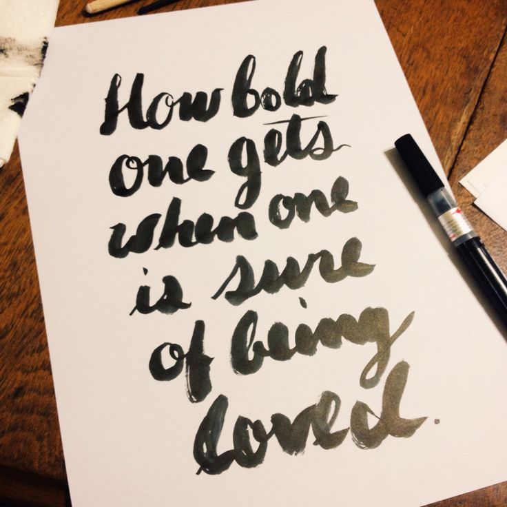 Pentel color brush calligraphy quote