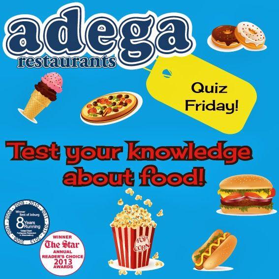 Quiz Friday! - Food Knowledge