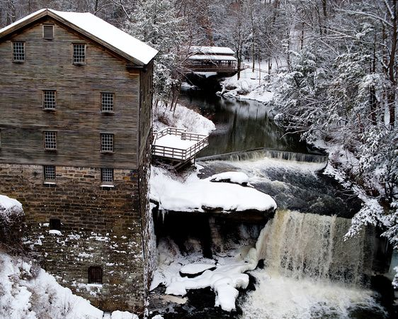 The Old Mill, Mill Creek Park, Youngstown, OH. Where I grew up. :)