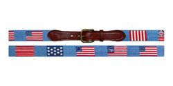 Flags of our Fathers Needlepoint Belt