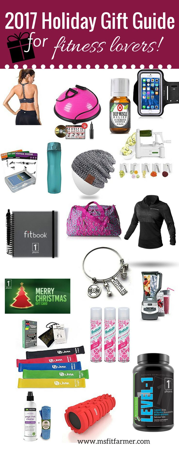 Holiday Gift Guide Fitness Lovers | Gift Ideas for Fitness | Gifts for Women | Christmas Presents | Holiday Shopping Ideas 2017 | More Fitness, Health and Wellness at www.msfitfarmer.com