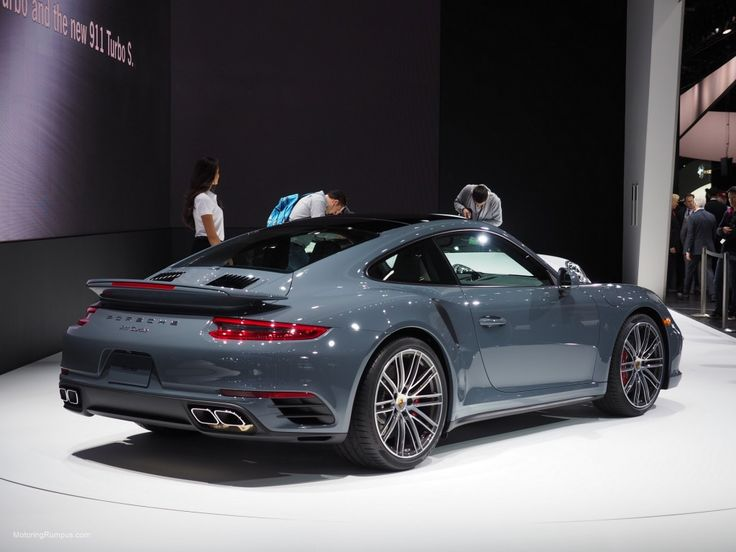 2016 NAIAS Porsche 911 Turbo Graphite Blue Metallic