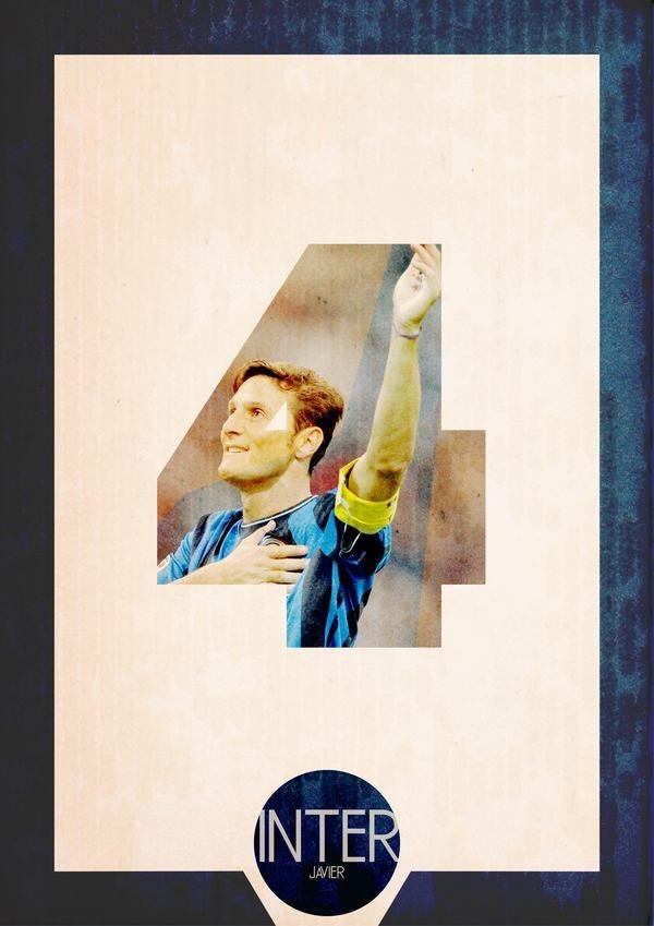 Football Poster retro (Serie A) by Michele Lorenzo Crippa, via Behance