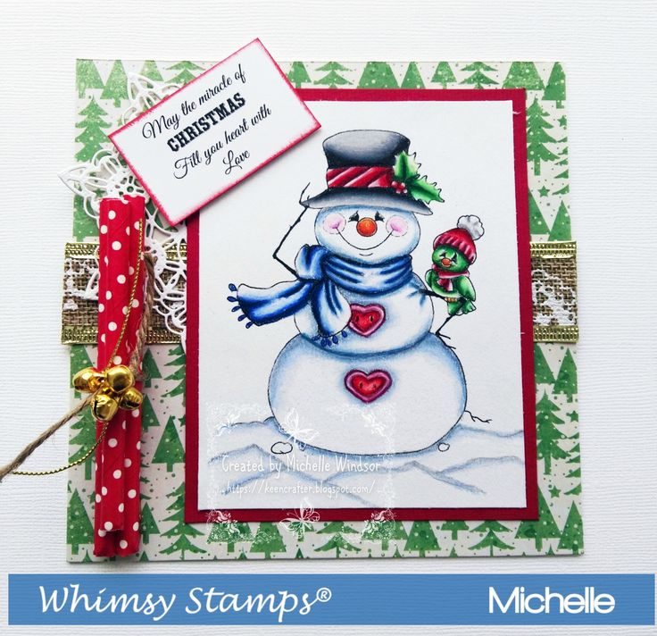 Whimsy Stamps Top O Morning Snowman