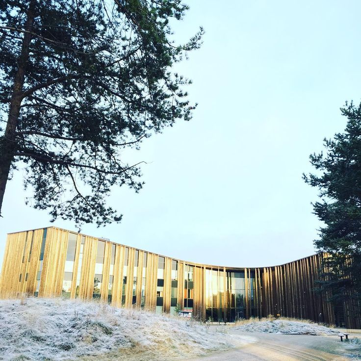 Sajos Cultural Center with first snow in Inari, Finnish Lapland. @sajosculturalcentre