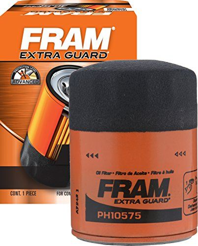 FRAM PH10575 Spin-On Oil Filter - FRAM oil filters are designed to deliver market leading efficiency and capacity. Uses cellulose and glass blended media to provide 3X more engine protection than the average of leading economy filters. When your oil breaks down, damaging dirt and particles can threaten the life of your engine. Ne...
