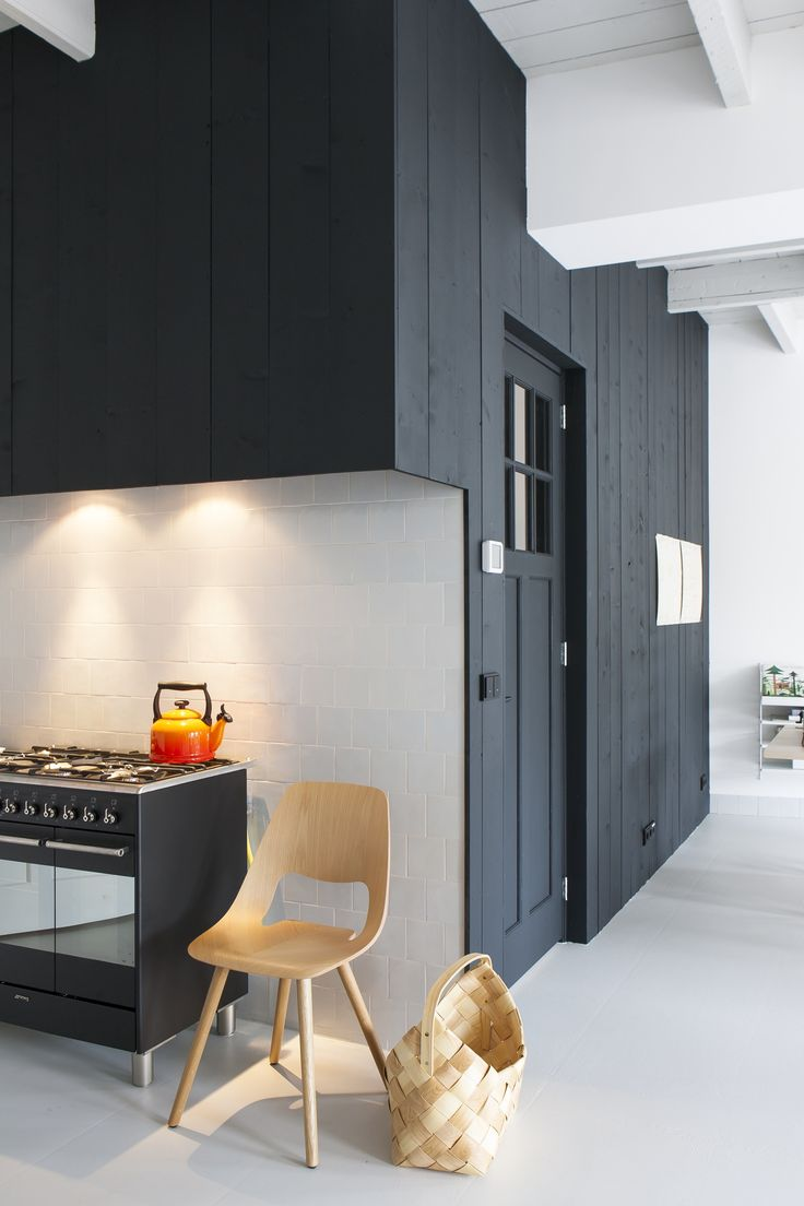 Project all white studio apartment perianth interior design new - Kitchen Of The Week The Curtained Kitchen Dutch Modern Edition