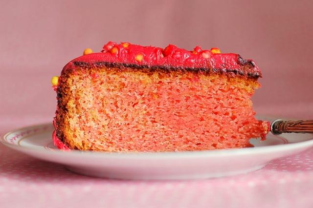 Bolo cor-de-rosa para o meu 30º aniversário :)