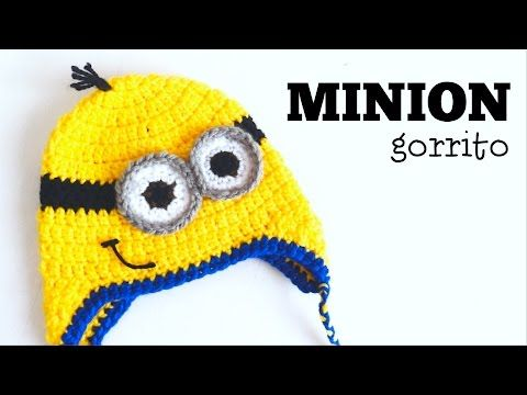 Gorro de Minion a Crochet - TODAS LAS TALLAS - Parte 1 - YouTube