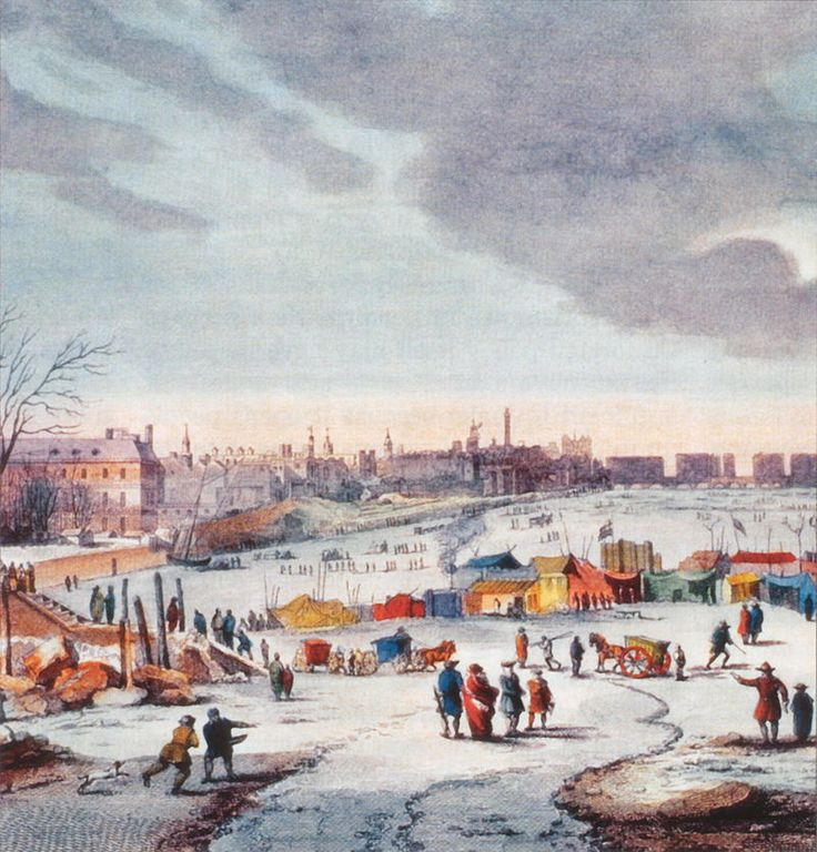 The Thames Frost Fairs http://www.historyuncaged.com/britain/thames  #History
