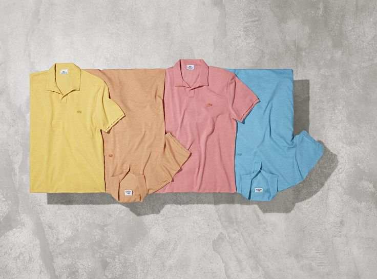 Yellow, orange, pink, blue: natural fabrics and light prints take over the Soft Sun collection by Lacoste.
