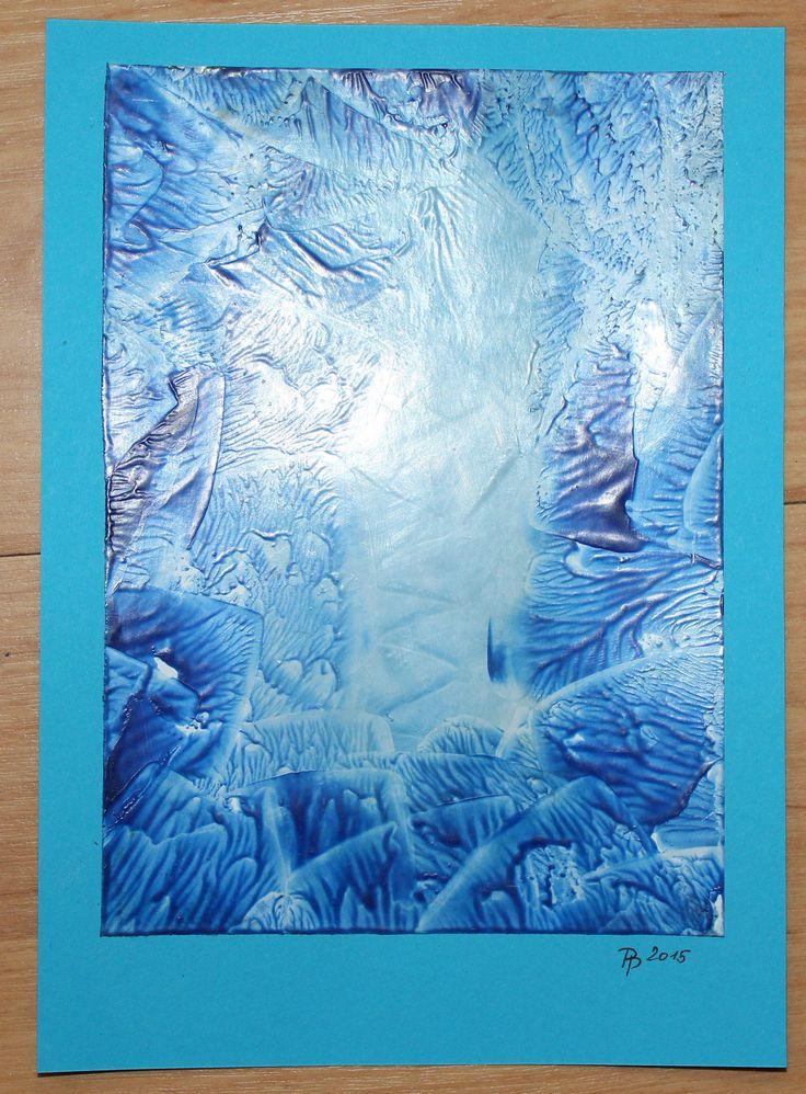 Blue crystal. Encaustic. (Modrý krystal. Enkaustika.)