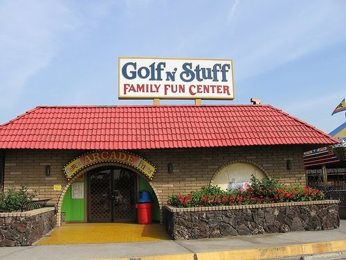 Golf n Stuff Norwalk, CA We played some putt putt here, the same place where Daniel and Ali played from the Karate Kid.  March 2012