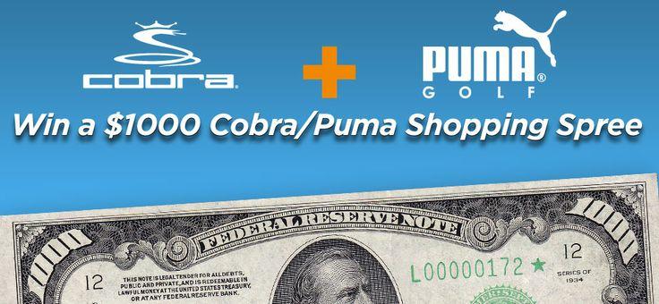 Enter For a Chance to Win a $1000 Cobra/Puma Shopping Spree