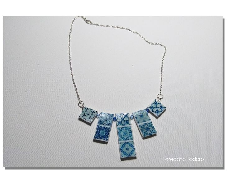 #paper #jewellery #necklace #azulejos #Portuguese#Tiles