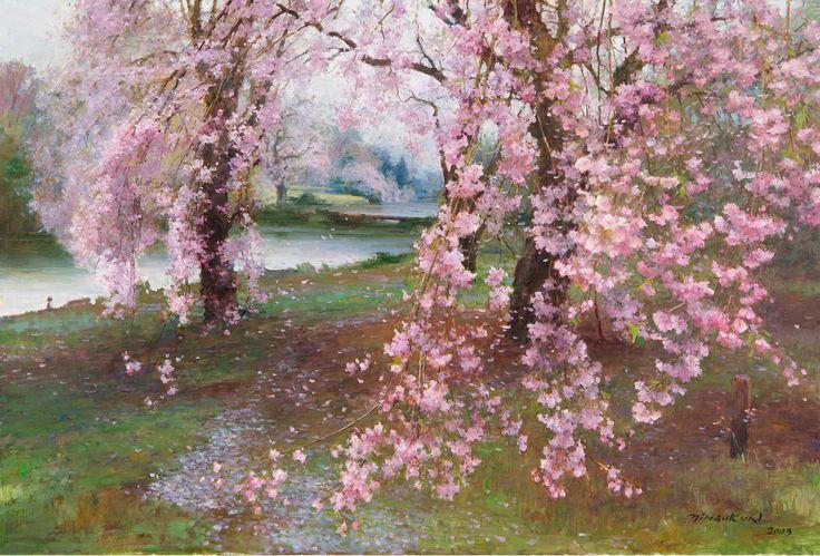 Sakura, Oil on Canvas, 38x57 inches, 2003