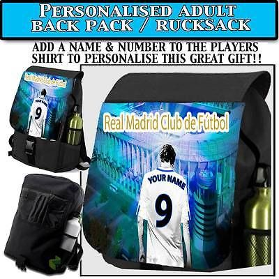 Personalised #unofficial real madrid men #backpack bag #rucksack,  View more on the LINK: http://www.zeppy.io/product/gb/2/231233564538/