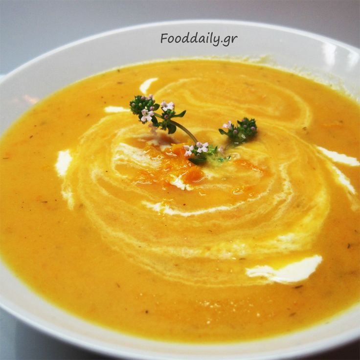 Σούπα καρότο - πορτοκάλι