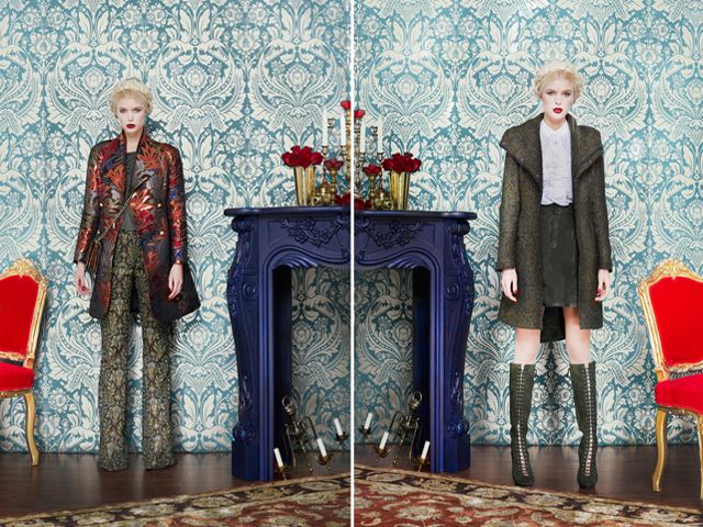 i die for those pants ( the whole outfit, but esp the pants) on the left, and the coat on the right. Alice + Olivia F/W 2013