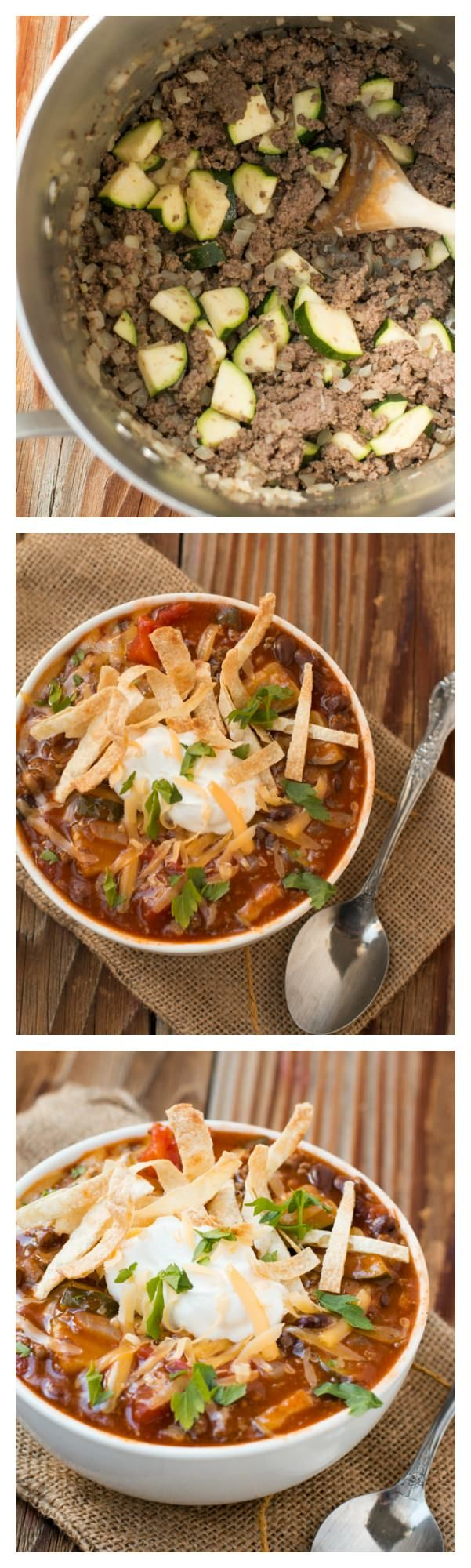 A quick and easy enchilada soup #recipe ohsweetbasil.com