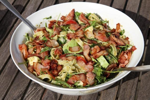 My Little Kitchen: Pesto Pasta Salad with Bacon