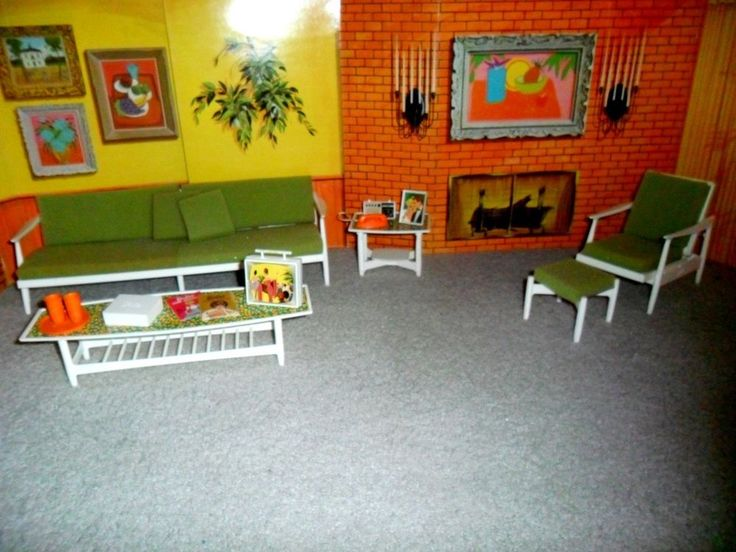 1964 barbie go together living room furniture set w all