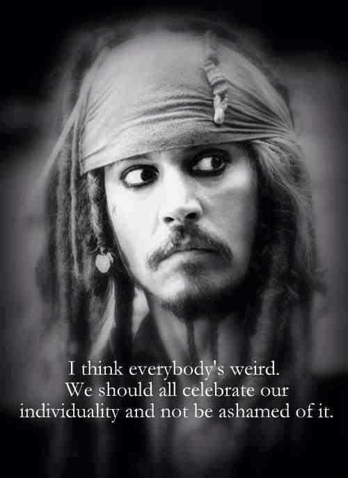 Captain Jack Sparrow on individuality :-)