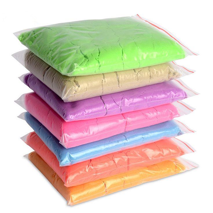 50 g/borsa cinetica argilla sabbia dinamico incredibile coperta magia play sabbia per bambini giocattoli educativi mars space sand colore argilla massinha