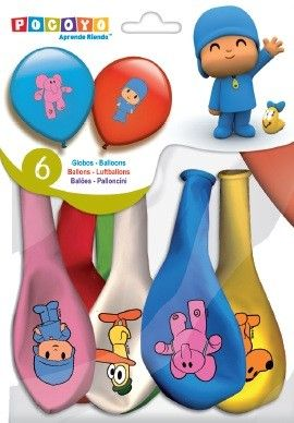 Pocoyo balloons for $3.91  www.partyweb.es  Let your child´s birthday party become a Pocoyo World. So, decorate the setting with these colored assorted and printed latex balloons which will give the environment a touch of life and happiness.  #pocoyo #partysupplies #pocoyopartysupplies