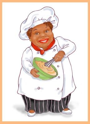 african american women chefs | African American Woman Chef Figurine