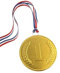Chocolate Trading Co 100mm Gold chocolate medal - Bulk case of 20
