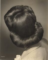 1940s hairstyle. I usually do a variation of this as my normal style. I should just take the extra time and roll the bottom