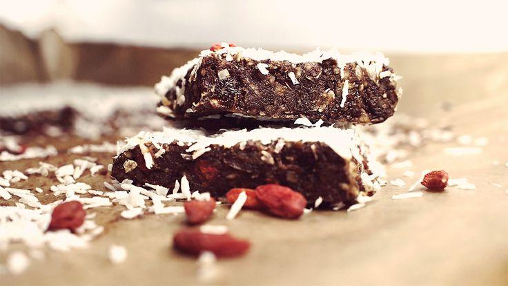 chocolate energy bars / gluten-free