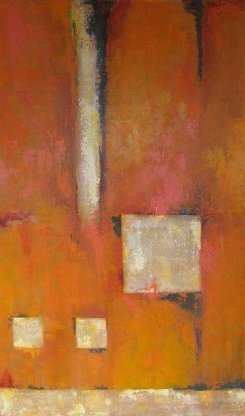 Acrylic painting by Ana Maria Botero. (original art, orange, tangerine): Acrylic Paintings, Painting Inspiration, Original Art